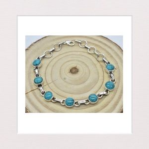 Jewelry - Genuine Turquoise and Sterling Silver Bracelet